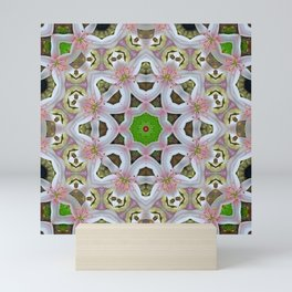 KALEIDOSCOPE LILY ELODIE SINGLE FLOWER PINK/WHITE Mini Art Print