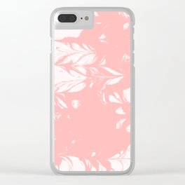 Tan - spilled ink rose pink marble marbling japanese watercolor water wave Clear iPhone Case