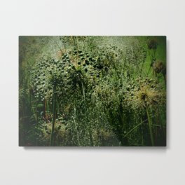 Rainy Green Garden Metal Print