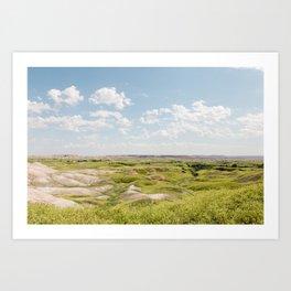 Badlands Prairie - Nature Landscape Photography Art Print