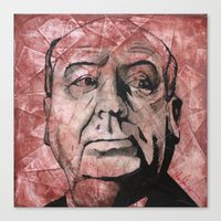 hitchcock Canvas Prints featuring Hitchcock by Colunga-Art
