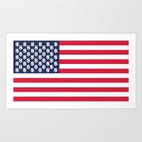 usa dollar flag Art Print