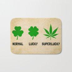 Cannabis / Hemp / Shamrock - Super Lucky mode Bath Mat