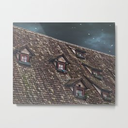 Roof of the Hotel oblique house Ulm Metal Print