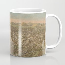 Vintage Pictorial Map of Mexico City (1906) Coffee Mug