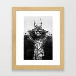 All migh Framed Art Print