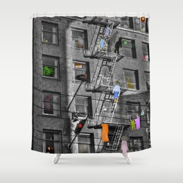 Building Lives, Sharing Spaces Shower Curtain