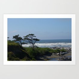 Washington coast Art Print