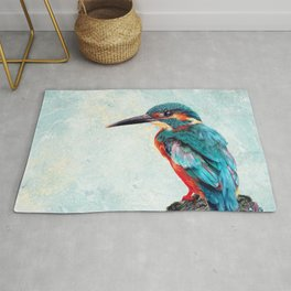 Kingfisher Pencil and Pour Rug
