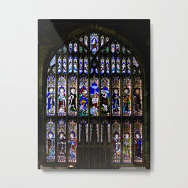 Stained Glass Window Shakespeare's Church Stratford upon Avon England Metal Print