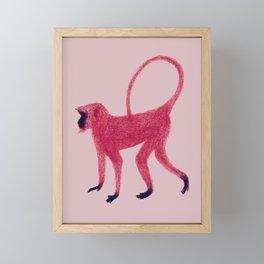 Red Monkey Framed Mini Art Print