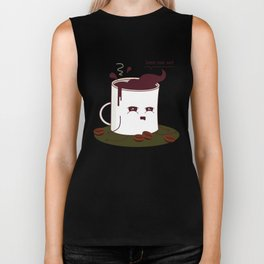 Coffee Mug Addicted To Coffee Biker Tank