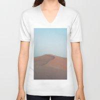 dune V-neck T-shirts featuring Dune by Richard PJ Lambert