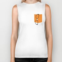alex vause Biker Tanks featuring Alex Vause Glasses with Fake Print Pocket by Zharaoh