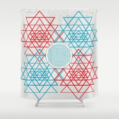 Geometrical 001  Shower Curtain