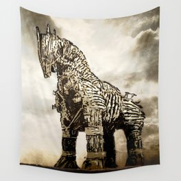 The TROJAN HORSE Wall Tapestry
