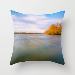 River in motion Throw Pillow