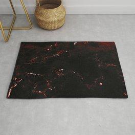 Dark Red Marble Rug