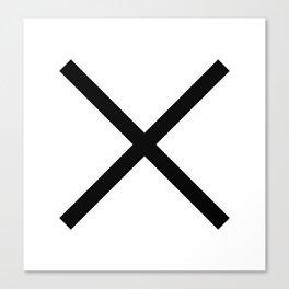 Minimalist pattern x Canvas Print