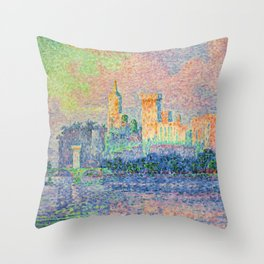 The Papal Palace, Avignon Throw Pillow