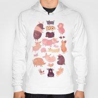 pig Hoodies featuring Pig Pig Pig  by Chuck Groenink