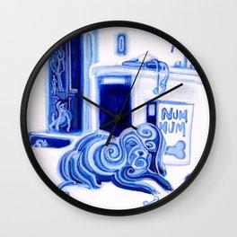 Kitteh Want Floofs Num Wall Clock