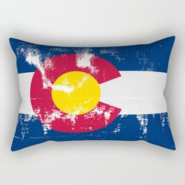 Colorado State Flag Grunge Rectangular Pillow