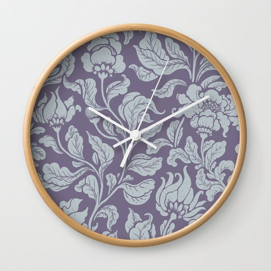 neo ethnic lavender Wall Clock