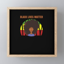 Black Lives Matter Human Rights Framed Mini Art Print