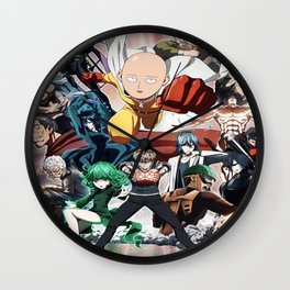 One Punch-Man Characters 2 Wall Clock