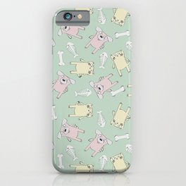 Raining Cats and Dogs (Patterns Please) iPhone Case