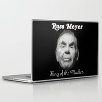 kevin russ Laptop & iPad Skins featuring Russ Meyer Tribute Poster by Holland