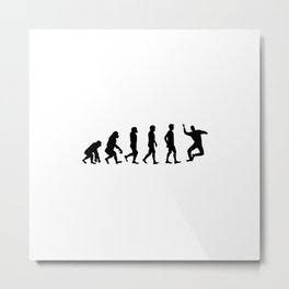 Seb Evolution Meme Celebration Metal Print
