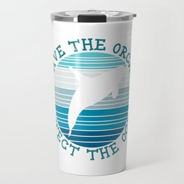 Save The Orcas Whales Protect The Ocean Snorkeling Adventure Sea Life Fish Dolphin Hawaii Travel Mug