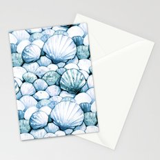 Sea Shells Teal Stationery Cards