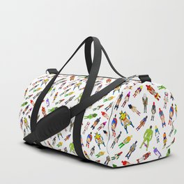Superhero Butts with Villians - Light Pattern Duffle Bag