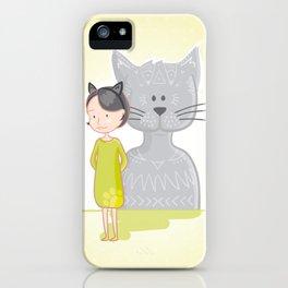 Cat's spirit iPhone Case