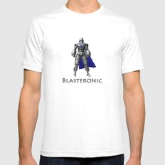 Blasteronic MEDIUM White Mens Fitted Tee