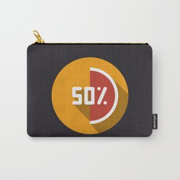 """Print illustration """"percentage - 50%"""" with long shadow in new modern flat design Carry-All Pouch"""