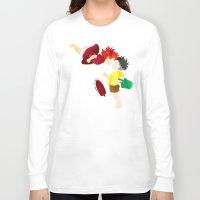 ponyo Long Sleeve T-shirts featuring Ponyo and Sosuke white background by foreverwars