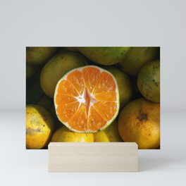Half tangerine. The new fruit of sin. Mini Art Print
