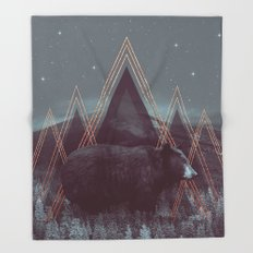 In Wildness | Bear Throw Blanket