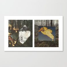 Fire In The Big Woods Diptych Canvas Print