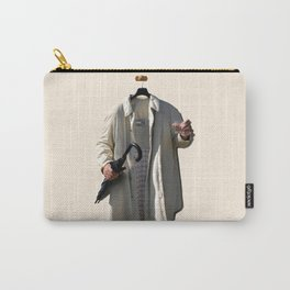 Raincoat of an invisible man with umbrella and watter glass Carry-All Pouch
