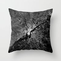 philadelphia Throw Pillows featuring philadelphia map by Line Line Lines