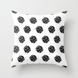 20 Sided Spindown Pattern Throw Pillow