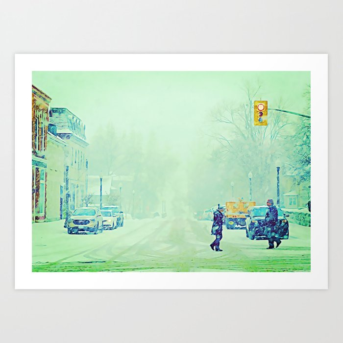 Snow's Early Arrival, Ontario, Canada Art Print