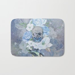 Skull And Butterfly Bath Mat