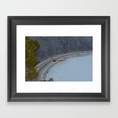 Curving away Framed Art Print