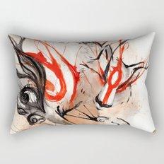 Okami Amaterasu Ink Rectangular Pillow